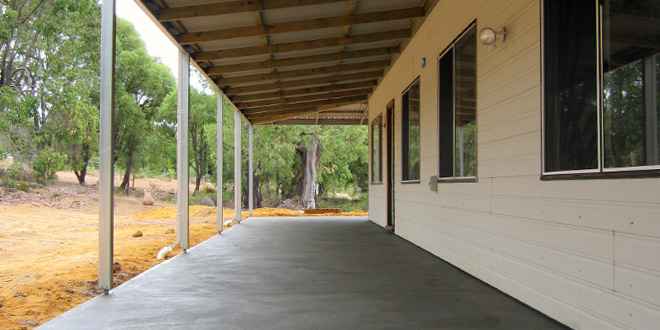 Verandah Floor in Grey Concrete